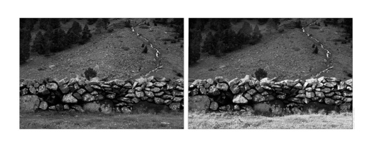 Stone fence at Llanos del Hospital