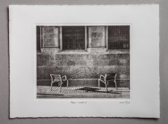 Two chairs - Plate 20x25cm