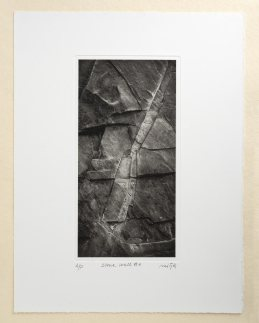 """Stone wall #2"", 13.5x26cm on 28x38cm paper"