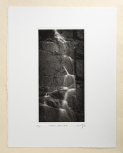 """Water fall #2"", 13.5x26cm on 28x38cm paper"